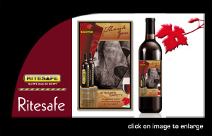 Ritesafe wine label